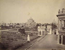 View in the Kaiser Bagh, Lucknow.
